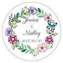 ieftine Savori Breloc-Florale/Botanice Temă Grădină Temă Florală Autocolante, etichete Tag-uri - 10 Rotund Pătrat Circular Decor Nuntă Unic Plic autocolant