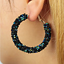 cheap Earrings-Women's Crystal Hoop Earrings - Crystal Statement, Simple, Fashion White / Black / Rainbow For Gift / Daily