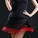 זול בגדי ריקוד לילדים-ריקוד לטיני חלקים תחתונים בגדי ריקוד נשים הדרכה כותנה פרנזים ללא שרוולים נפול חצאיות