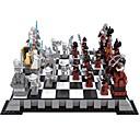 preiswerte Building Blocks-AUSINI Bausteine Schachspiel Schach Minifiguren aus Blockbausteinen Bildungsspielsachen Heimwerken Kinder Geschenk 1142pcs