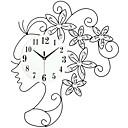 tanie Nowoczesne/Współczesne Zegary Ścienne-Styl nowoczesny Szkło / Metal Zaokrąglanie Wewnętrz / Na zewnątrz,AA