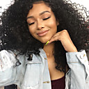 cheap Human Hair Wigs-Remy Human Hair Glueless Lace Front / Lace Front Wig Brazilian Hair Kinky Curly Wig With Baby Hair 150% Natural Hairline / 100% Virgin Short / Medium Length / Long Human Hair Lace Wig