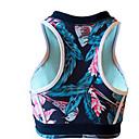 זול בגדי ריצה-עם רצועות איקס חזיות ספורט מרופד תמיכה בינונית עבור יוגה / ריצה - הסוואה ייבוש מהיר, נשימה, דק מאוד בגדי ריקוד נשים ניילון