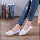 זול סניקרס לנשים-בגדי ריקוד נשים נעליים PU אביב / סתיו נוחות שטוחות שטוח בוהן סגורה כתום / צהוב / כחול