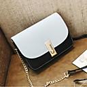 hesapli Omuz Çantaları-Kadın's Çantalar PU Omuz çantası Fermuar için Günlük Tüm Mevsimler Yonca / Doğal Pembe / Açık Gri
