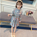 זול שמלות לבנות-שמלה שרוול ארוך פרחוני פשוט בנות פעוטות