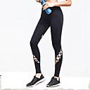 זול בגדי ריצה-בגדי ריקוד נשים חלול חיצוני טייץ לריצה - שחור ספורט מכנסיים / חותלות לבוש אקטיבי ייבוש מהיר, נשימה, דק מאוד גמישות גבוהה