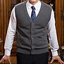 ieftine Bath Robes-Bărbați Mărime Plus Size Fără manșon Vestă - Culoare solidă În V