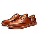 זול סניקרס לגברים-בגדי ריקוד גברים PU חורף נוחות נעלי אוקספורד חום בהיר / חום כהה / חאקי