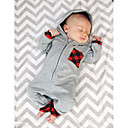 cheap Baby Boys' Clothing Sets-Boys' Daily Solid Plaid Patchwork Blouse, Cotton All Seasons Long Sleeves Casual Active Light gray