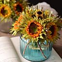 cheap Artificial Plants-Artificial Flowers 6 Branch Retro Sunflowers Tabletop Flower