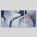 זול מחזיקים ומרכבים-ציור שמן צבוע-Hang מצויר ביד - מופשט מודרני בַּד