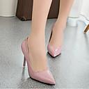 olcso Női magassarkú cipők-Női Cipő PU Tavasz / Ősz Magasított talpú Magassarkúak Tűsarok Erősített lábujj Fehér / Piros / Rózsaszín