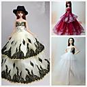 abordables Ropa para Barbie-Princesa Vestidos por Muñeca Barbie  Poliéster Vestido por Chica de muñeca de juguete