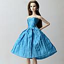 tanie Akcesoria dla lalek-Suknie Sukienka Dla Lalka Barbie Niebieski Bawełniano-poliestrowy Ubierać Dla Dziewczyny Lalka Zabawka