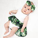 cheap Baby Girls' One-Piece-Baby Girls' Vintage Sports Solid Colored / Floral Sleeveless Cotton / Linen / Bamboo Fiber Bodysuit / Toddler