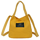 cheap Totes-Women's Bags Canvas Tote Appliques Red / Blushing Pink / Yellow