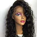 cheap Hair Pieces-Human Hair Glueless Full Lace / Full Lace Wig Brazilian Hair Curly Wig Layered Haircut / With Bangs / With Baby Hair 130% Natural Hairline / 100% Virgin / Unprocessed Women's Medium Length Human Hair