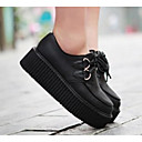 cheap Women's Oxfords-Women's Shoes PU(Polyurethane) Spring / Fall Comfort Oxfords Creepers White / Black