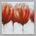 זול תצוגות-ציור שמן צבוע-Hang מצויר ביד - פרחוני / בוטני מודרני בַּד