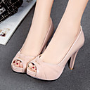 cheap Women's Heels-Women's Shoes PU(Polyurethane) Spring / Summer Comfort / Novelty Heels Stiletto Heel Peep Toe Beige / Gray / Pink / Wedding