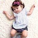 baratos Infantil Tiaras-bebê Para Meninas Simples Sólido / Listrado Sem Manga Algodão / Linho / Fibra de Bamboo Vestido / Bébé