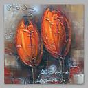 זול הדפסי בד מגולגל-ציור שמן צבוע-Hang מצויר ביד - פרחוני / בוטני מודרני בַּד
