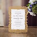 זול הזמנות לחתונה-כרטיס שטוח הזמנות לחתונה 20 - כרטיסי הזמנה סגנון מודרני נייר עם תבליטים דוגמא \ הדפס