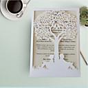 זול הזמנות לחתונה-הזמנות ומעטפות הזמנות לחתונה 50pcs - כרטיסי הזמנה לדוגמא הזמנה כרטיסים ליום האם כרטיסים למסיבת אירוסין סגנון פרחוני נייר עם תבליטים