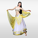 cheap Belly Dance Wear-Belly Dance Outfits Women's Performance Cotton Polyester Beading Petal Paillette Crystals / Rhinestones Sleeveless Dropped Skirts Bra 1