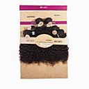 זול סטים של תכשיטים-שיער ברזיאלי Kinky Curly שיער בתולי שיער Weft עם סגירה שוזרת שיער אנושי תוספות שיער אדם / קינקי קרלי