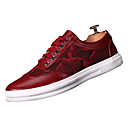 זול נעלי בד ומוקסינים לגברים-בגדי ריקוד גברים עור / PU סתיו / חורף נוחות נעלי ספורט שחור / אדום / כחול
