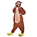 ieftine Pijamale Kigurumi-Pijama Kigurumi Maimuţă Pijama Întreagă Costume Lână polară Fibră sintetică Maro Cosplay Pentru Sleepwear Pentru Animale Desen animat