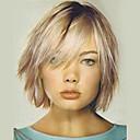 billige Lokkløs-Human Hair Capless Parykker Ekte hår Rett Lagvis frisyre Ombre-hår / Mørke røtter Medium Maskinprodusert Parykk