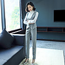 preiswerte Nagel-Funkeln-Damen Arbeit Street Schick Hemd - Solide Rundhalsausschnitt Hose