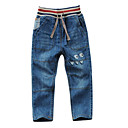 cheap Boys' Clothing Sets-Boys' Solid Colored Jeans Light Blue 2-3 Years(100cm)