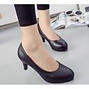 זול מוקסינים לנשים-בגדי ריקוד נשים נעליים PU אביב / סתיו נוחות עקבים עקב גבוה שחור