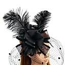 זול הד פיס למסיבות-עור / רשת מפגשים / פרחים / כובעים עם נוצות \ פרווה 1pc חתונה / אירוע מיוחד כיסוי ראש