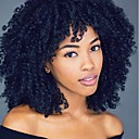 cheap Human Hair Capless Wigs-Synthetic Wig Curly / Kinky Curly Pixie Cut / With Bangs Synthetic Hair African American Wig Black / Brown Wig Lace Front