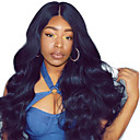 cheap Human Hair Wigs-Human Hair Lace Front Wig Mongolian Hair Body Wave / Kinky Curly Wig With Baby Hair 250% Natural Hairline Women's Medium Length / Long Human Hair Lace Wig