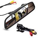 זול גרירה-4.3 אינץ' TFT-LCD CCD ערכת תצוגה אחורית לרכב ראיית לילה ל מכונית