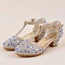 זול נעלי ילדים-בנות נעליים Paillette אביב / קיץ עקבות זעירים עבור בני נוער עקבים קריסטל ל זהב / כסף / סגול