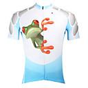 abordables Maillots Ciclismo-ILPALADINO Hombre Manga Corta Maillot de Ciclismo - Azul Animal Bicicleta Camiseta/Maillot, Secado rápido, Resistente a los UV,