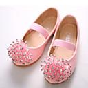 זול נעלי ילדות-בנות נעליים PU אביב קיץ חדשני / נעליים לילדת הפרחים שטוחות ריינסטון / אפליקציות / סרט גומי ל לבן / ורוד / מסיבה וערב