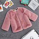 preiswerte Mädchenschuhe-Kinder Mädchen Einfach Solide Langarm Kurz Bluse