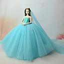 tanie Akcesoria dla lalek-Suknie Sukienka Dla Lalka Barbie Morski Tiul / Koronka Ubierać Dla Dziewczyny Lalka Zabawka