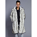זול גברים-ג'קטים ומעילים-נמר ארוך מעיל פרווה - בגדי ריקוד גברים, מכפלת פרווה דמוי פרווה / שרוול ארוך