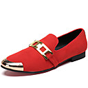 cheap Women's Slip-Ons & Loafers-Men's Novelty Shoes Nappa Leather Spring / Fall Comfort / British Loafers & Slip-Ons Black / Red / Party & Evening