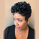 זול תוספות שיער בגוון טבעי-שיער ללא שיער שיער אנושי Jerry curl אפרו פיקסי קאט פאה אפרו-אמריקאית קצר הוכן באמצעות מכונה פאה
