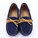 זול סניקרס לגברים-בנים / בנות נעליים עור נובוק / עור אביב נוחות נעליים ללא שרוכים ל כחול כהה / קפה / ירוק כהה